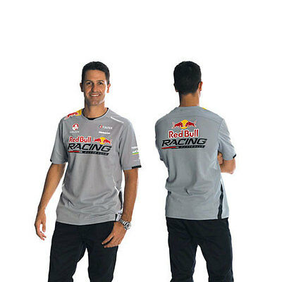 Red Bull Racing Australia Mens Team Tech T-Shirt Tee Top Grey Sizes S M L Xl