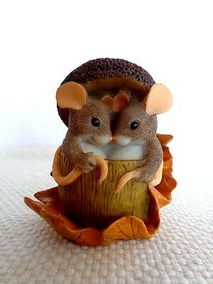 """Fitz & Floyd Charming Tails """"Acorn Built For Two"""" Item : 85/403"""