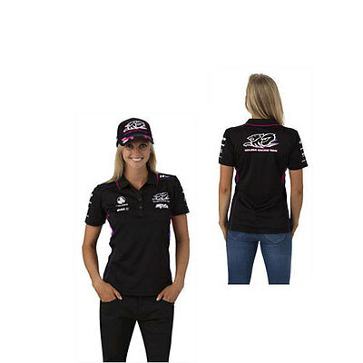 Holden Racing Team Hrt Ladies Team Polo Black V8Supercars Sizes 8 & 10 Only