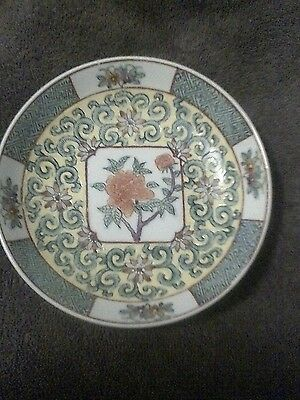 VTG Japanese Porcelain Ware Hand Painted Bowl Decorated In Hong Kong