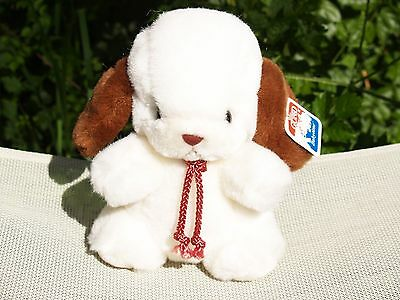 "Vintage Gund-White & Brown Baby Smooch -Puppy Dog -7"" -#1332 -1982-New-All Tags"
