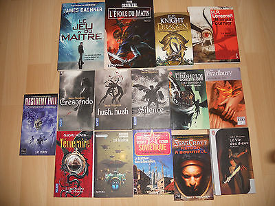 Lot De 15 Livres Science Fiction Et Fantasy