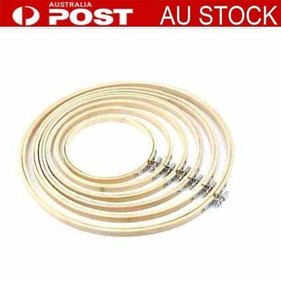 Handy Wooden NEW Stitch Machine Embroidery Hoop Ring Bamboo Sewing 13-30cm AU