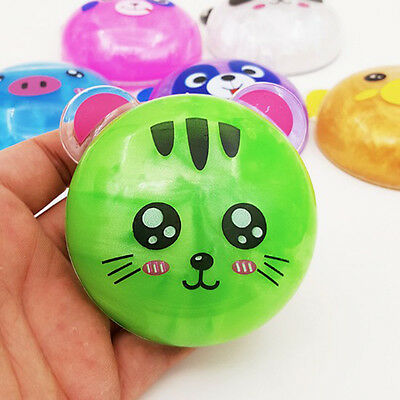 Kids Baby Toys Crystal Animals Magnetic Clay Plasticine Playdough Kids Gift