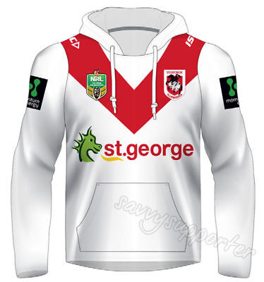 St George Dragons 2017 NRL Jersey Hoodie Adults and Kids Sizes BNWT Hoody