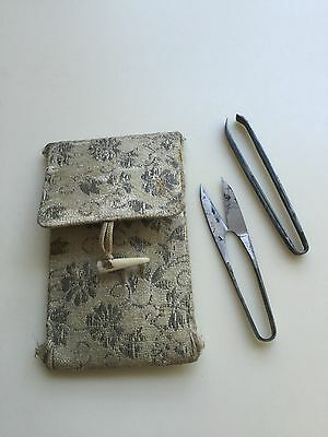 Vintage Japanese Sewing Purse With Thread Cutters