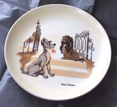Vintage Walt Disney Lady And The Tramp Wall Plate
