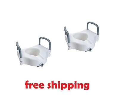 Cardinal Health™ Raised Toilet Seat with Arms and Lock, 5""