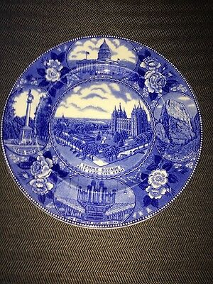 OLD ENGLISH STAFFORDSHIRE The Utah Plate - Temple Square 10""
