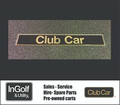 Club Car PRECEDENT Badge Nameplate decal sticker Golf Cart Buggy Buggie GENUINE