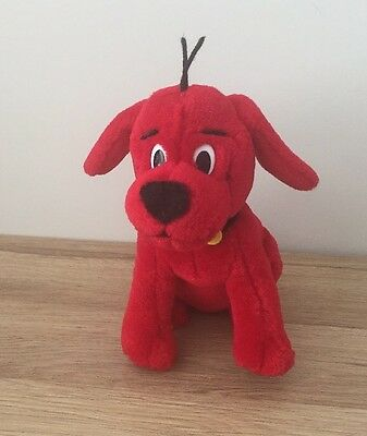 """Clifford The Big Red Dog - 8"""" Plush Soft Toy - Scholastic - Vgc"""