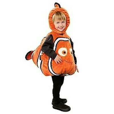 Disney Store NEMO Deluxe 3D Plush Costume 12 - 18 month Gold Fish Halloween NEW