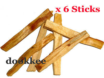 PALO SANTO Holy Wood Incense / Smudge Sticks –5 Sticks + 1 FREE Stick = 6 Sticks