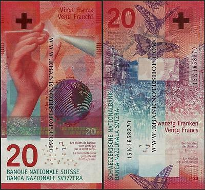 Switzerland,P76,20 Francs,2015,UNC,Hybrid ,issued 2017@ EBS