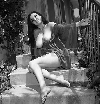 1960's Vogel Negative, busty nude Asian pin-up girl Toni Kim in the sun, t973697