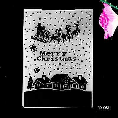 2017 NEW Christmas Design for DIY Cutting Dies Scrapbooking Embossing Folder