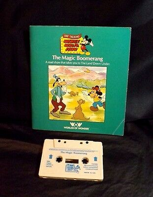 Talking Mickey Mouse The Magic Boomerang Book/tape Worlds Of Wonder