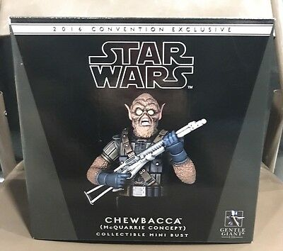 SDCC 2016 Exclusive Gentle Giant MCQUARRIE CHEWBACCA Mini Bust #164 Of 400 NEW!