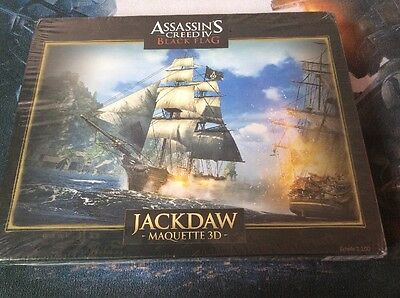 NEW Assassins Creed IV Black Flag jackdaw Pirate Ship Maquette 1:1000 3D Sealed