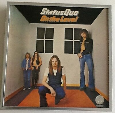 STATUS QUO - framed album cover - ON THE LEVEL - framed LP cover