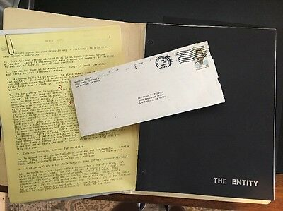 The Entity 1982 Frank De Felitta Personally Owned First Draft Script And Letter…