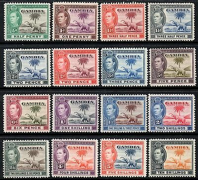 Gambia 1938-46 King George VI Pictorial Definitive Set SG.150/161 Mint (Hinged)