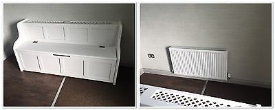 3 ft Radiator Cover Monks Bench/Settle/Pew With Storage (MADE TO ANY SIZE)