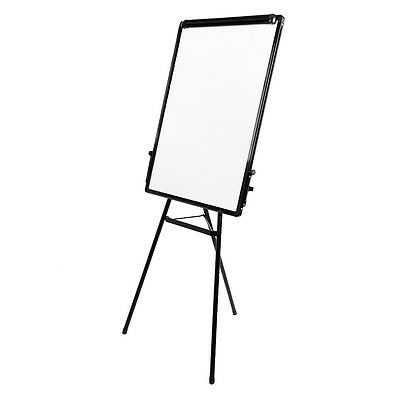 Flip Chart Easel Magnetic Dry Wipe Whiteboard Adjust Stand 900x600mm Drawing
