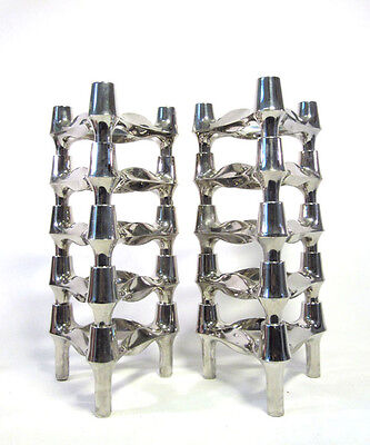 10x BMF STECKLEUCHTER KERZENHALTER SPACE AGE CANDLE STICKS STACKING SYSTEM 1970S