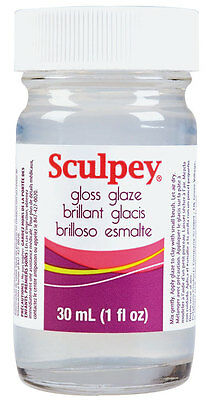 Sculpey Glaze 30ml - top coat for use on oven bake polymer clay