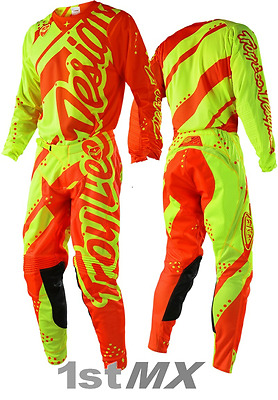 984d5be44 Troy Lee Designs Shadow Yellow Orange TLD SE Air Motocross Gear Adults 28  Small