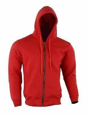 Motorcycle Armoured Full Lined Mens Fleece Hoodie paded Protection S- 3XL SIZE