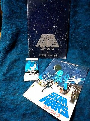 Star Wars: Episode IV A New Hope Japan movie program w/ticket stub&movie flyer