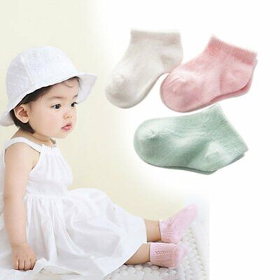 Newborn Baby Boy Girl Soft Cotton Socks Infant Anti Slip Cotton Ankle Socks 0-3Y