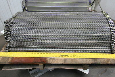 "Stainless Steel Balanced Weave Chain Drive Wire Mesh Conveyor Belt 34' 4"" X 36"""