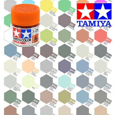 Tamiya Acrylic Paint Pot 10ml X-1 to X-35 Choose your colour - Model Paint Jars