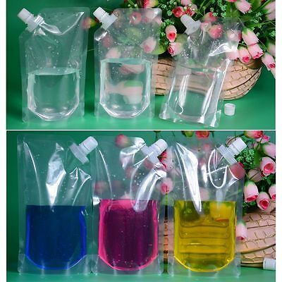 1PC Flowing Food Transparent DIY Fresh Bag Pocket Flask Cruise Drinks Suction