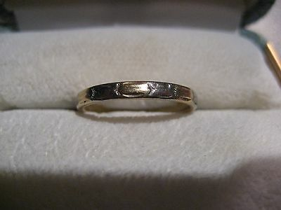 Antique Art Deco Wedding Band Ring Size 6 14/18K Yellow/white Gold