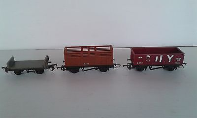 3 x  Triang Goods Wagons