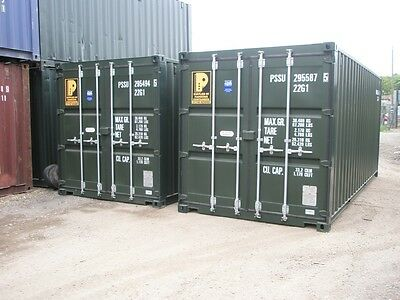 """20Ft X 8Ft X 8Ft 6"""" New 'one Trip' Shipping Containers - Nationwide *£1795+Vat*"""