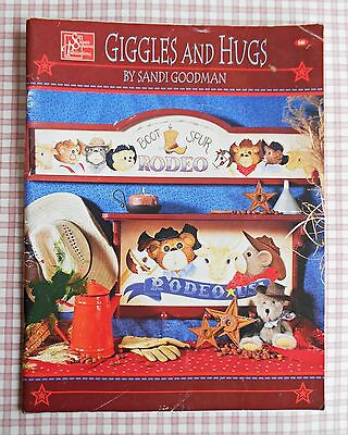 GIGGLES and HUGS ~ 2003 Folk Art Painting Book by Sandi Goodman ~ 76 Page SC
