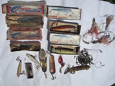 Vintage D.A.M DAM Boxed Salt Water Lures Lure Hooks Others Collection