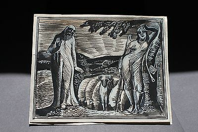 William Blake 'Thenot and Colinet' Ink and Watercolour-original