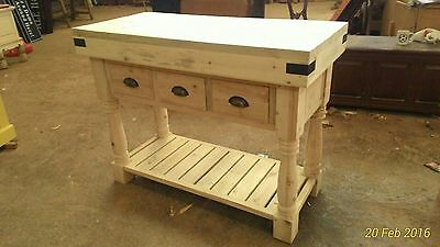 Hand Crafted solid wood kitchen island / Butchers block