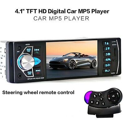 "4.1"" Car MP5 Radio Stereo Player TFT Screen Audio FM Station In-Dash w/ Camera"