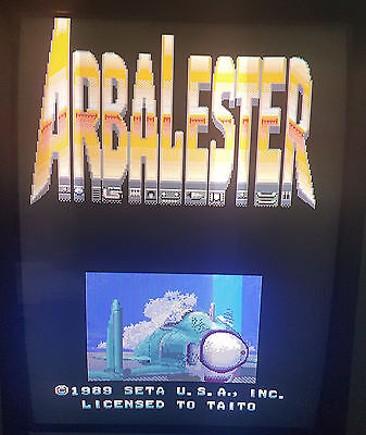 Arbalester Arcade Vertical Shooter SHMUP PCB Jamma/TaitoY