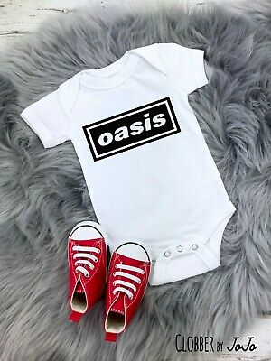 'Oasis' Funny Cute Baby Shower Vest Grow Bodysuit Gift indie music