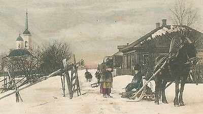 RUSSIA - Types russes - Village russe