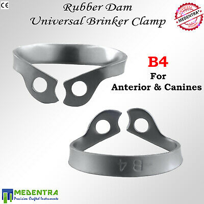 MEDENTRA® B4 Anterior Molar Clamp Brinker Universal Rubber Dam Clamps Instrument