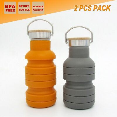 2x 2L Outdoor Water Bottle Double Wall Camping Office Cycling CARAVAN Cup Kettle